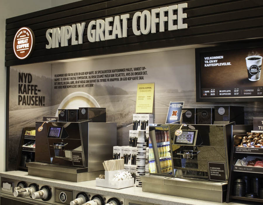 Simply Great Coffee, To-Go fra Circle K tankstationer